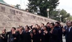 2020年01月07日 區議會首次會議前連儂牆前默哀