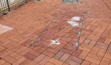 2020年10月07日 荷里活廣場外地面損毀