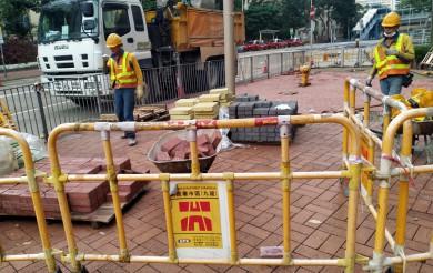 2020年11月23日 維修荷里活廣場外地磚