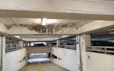2020年12月03日 停車場鐵板裂開導致漏水問題