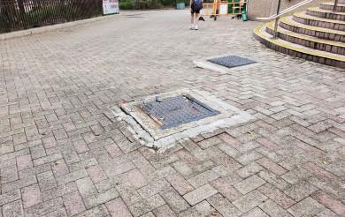 2021年05月24日 龍璋閣外空地地磚凹凸不平導致長者跌倒受傷