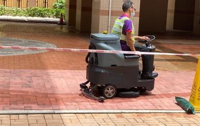2021年05月29日 清潔車清洗星河明居CD座之間路面